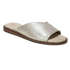 Franco Sarto Rivera Flat • Gold Stud Slide Sandals